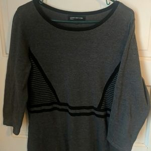 Jones New York Charcoal and Black Sweater Dress